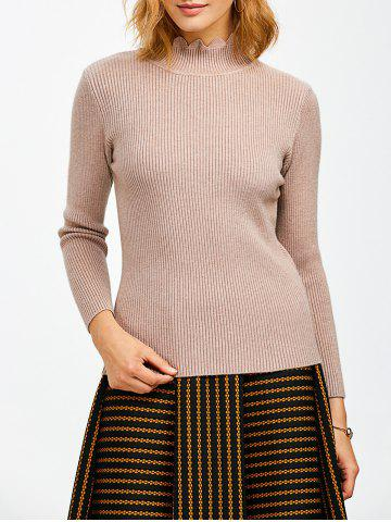Best High Neck Ribbed Knit Sweater