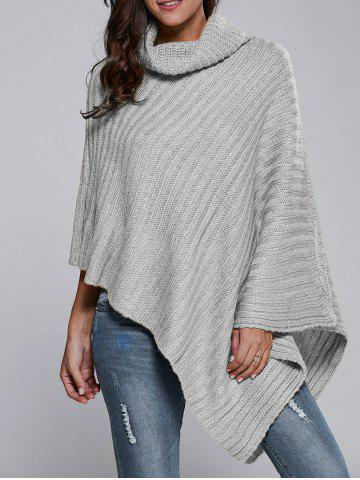 Outfit Batwing Sleeve Turtle Neck Cape Sweater