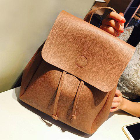 Shop Drawstring Cover Backpack BROWN