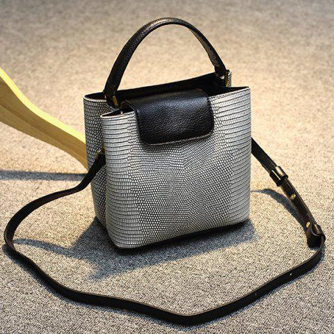 Trendy Embossing Mini Tote Bag