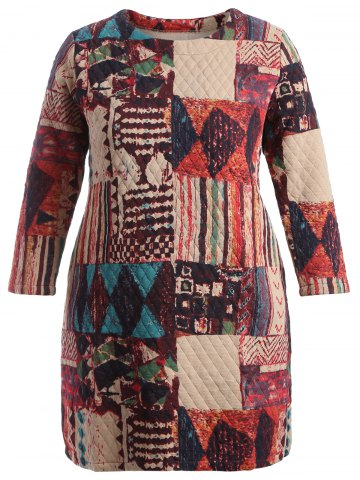 Store Plus Size Thicken Patchwork Dress