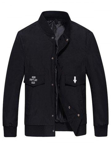 Discount Pocket Snap Button Up Bomber Jacket