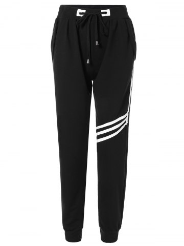 Outfit Drawstring Striped Sweatpants