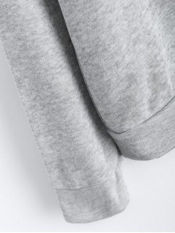 Latest Alien Patch Drawstring Hoodie - S GRAY Mobile