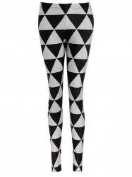 Triangle Print Bodycon Leggings