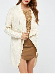 Long Sleeve Asymmetrical Long Open Front Cardigan