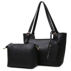 Buckle Straps PU Leather Shoulder Bag