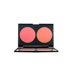 2 Colours Blush Palette with Mirror - #01