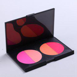 4 Colours Face Blush Palette - BLACK