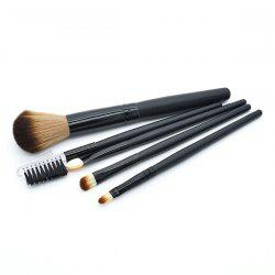 5 Pcs Fiber Facial Makeup Brushes Set -