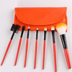 7 Pcs Fiber Facial Makeup Brushes Set with Brush Bag -