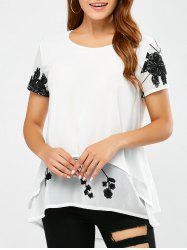 Embroidery Chiffon Layered Blouse