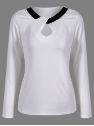 Jewel Neck Keyhole T-Shirt