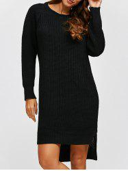 High Low Long Sleeve Sweater Dress -