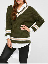 Batwing Ribbed Cricket Sweater