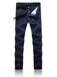 Trimmed Pocket Zipper Fly Tapered Pants -
