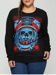 Halloween 3D Eye Skulls Print Sweatshirt