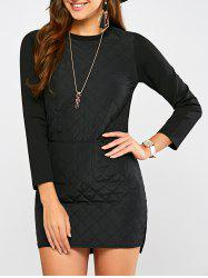 Padded Long Sleeve Dress -