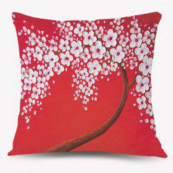 Vintage Floral Pattern Home Decorative Pillow Case - RED