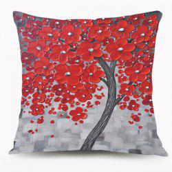 Oil Paint Flower Tree Cushion Throw Pillow Case -