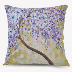 Artistic Oil Paint Flower Cushion Throw Pillow Case -