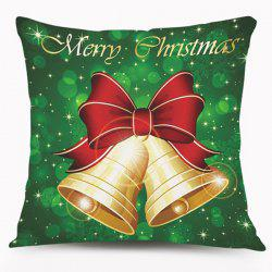 Christmas Bell Pattern Cushion Throw Pillow Case -