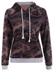 Pullover Camo Print Hoodie