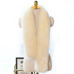 Faux Fur Long Scarf -