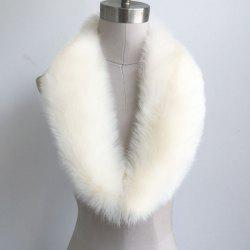 Faux Fur Collar Scarf -