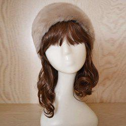 Faux Fur Headband - KHAKI