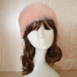 Faux Fur Headband - SHALLOW PINK