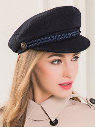 Wool Rope Fastener Embellished Beret Hat