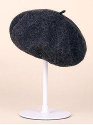 Soft Felt Wool Beanie Beret Hat - DEEP GRAY