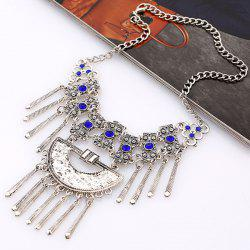 Vintage Alloy Rhinestone Necklace -
