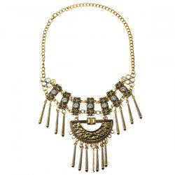 Vintage Alloy Rhinestone Necklace