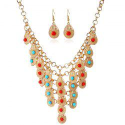 Bohemian Beads Necklace and Earrings - GOLDEN