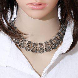 Hollow Out Alloy Choker Necklace -