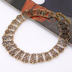 Hollow Out Alloy Choker Necklace