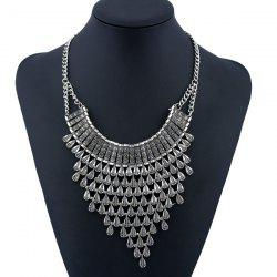 Alloy Geometric Water Drop Necklace -