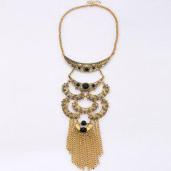 Artificial Gem Moon Layered Necklace
