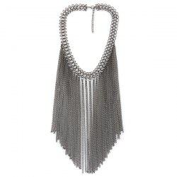 Geometric Tassel Chains Necklace