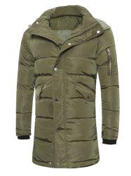 Hooded Lengthen Thicken Quilted Coat