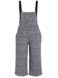 Plus Size Houndstooth Check Overalls -