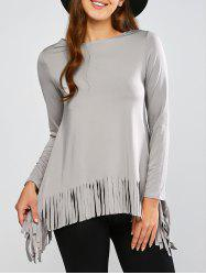 Fringed Asymmetrical Tee