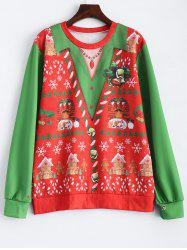 Christmas Patterned Sweatshirt