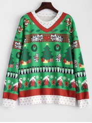 Christmas Catoon Animal Pattern Sweatshirt
