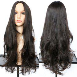 Long Middle Part Slightly Curled Synthetic Wig