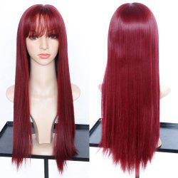 Long Full Bang Straight Synthetic Wig