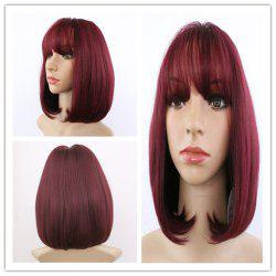 Short Full Bang Straight Synthetic Wig