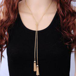 Alloy Double Tassel Sweater Chain - GOLDEN